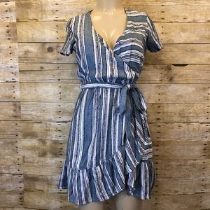 NWT FRANCESCAS | Striped Wrap Dress XS